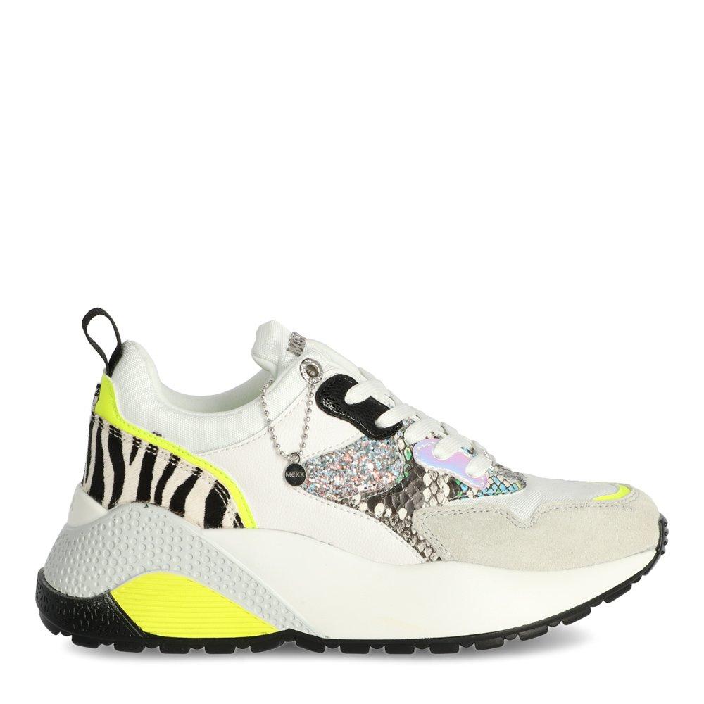 Sneaker Dylena White/Neon Yellow | Mexx