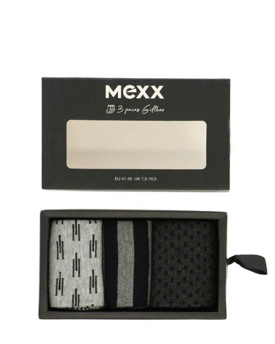 Cadeaubox herensokken multi-print zwart / grijs