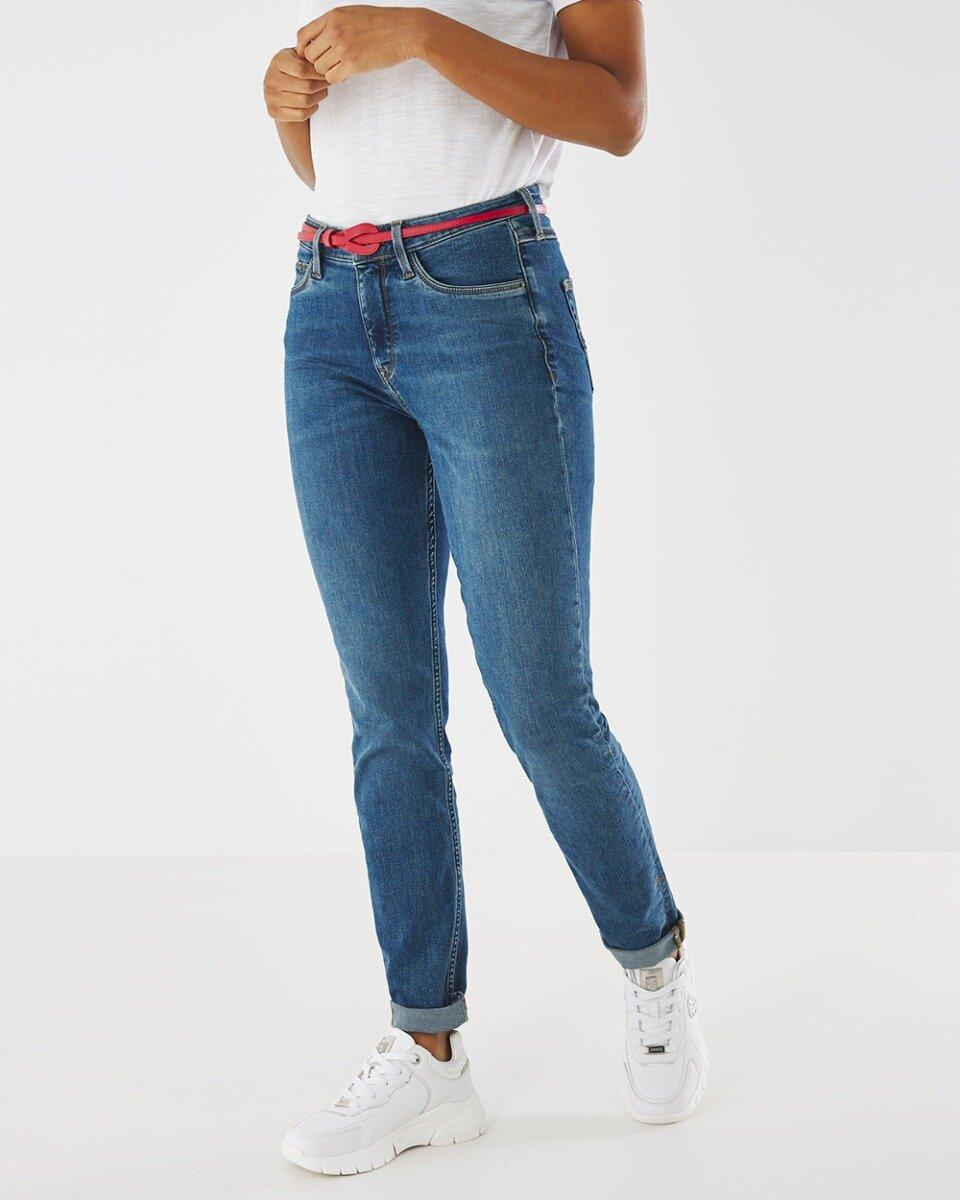 Jeans Jenna Klassiek Blauwe Wassing