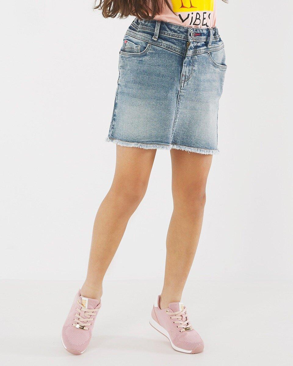 Spijkerrok Carry vintage blauw