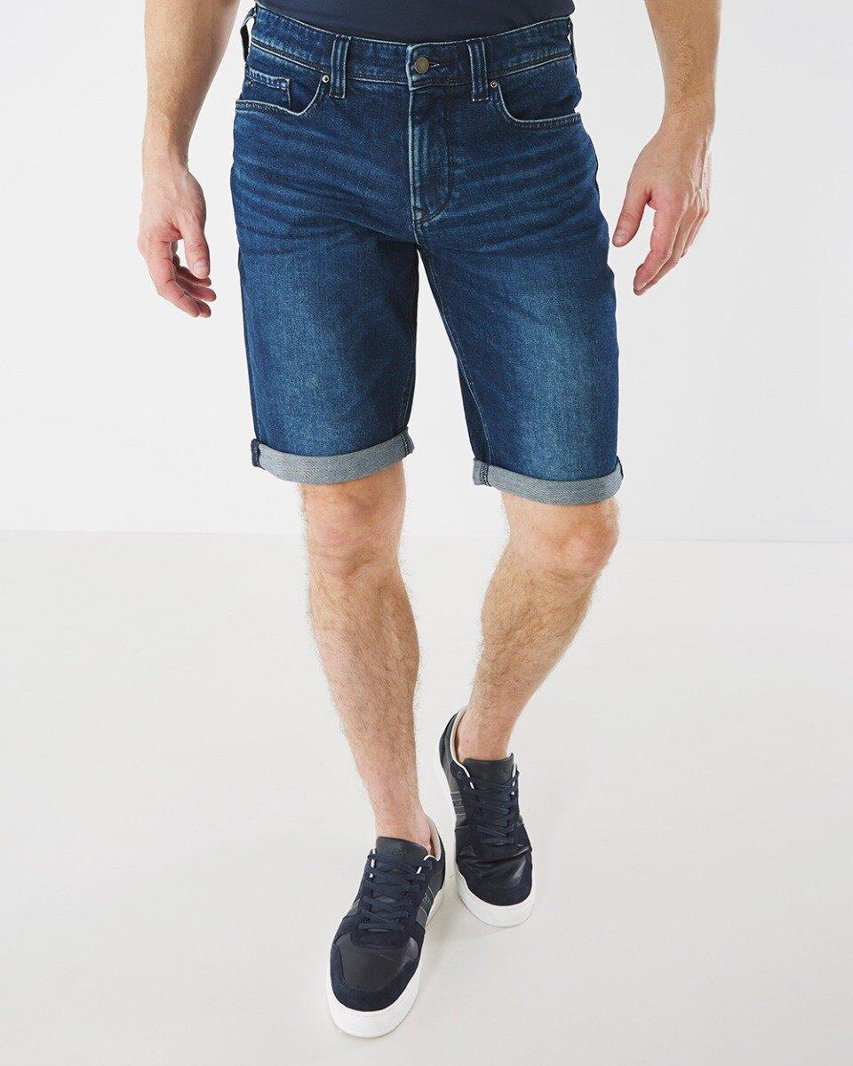 Korte jeans Steve donkere wassing