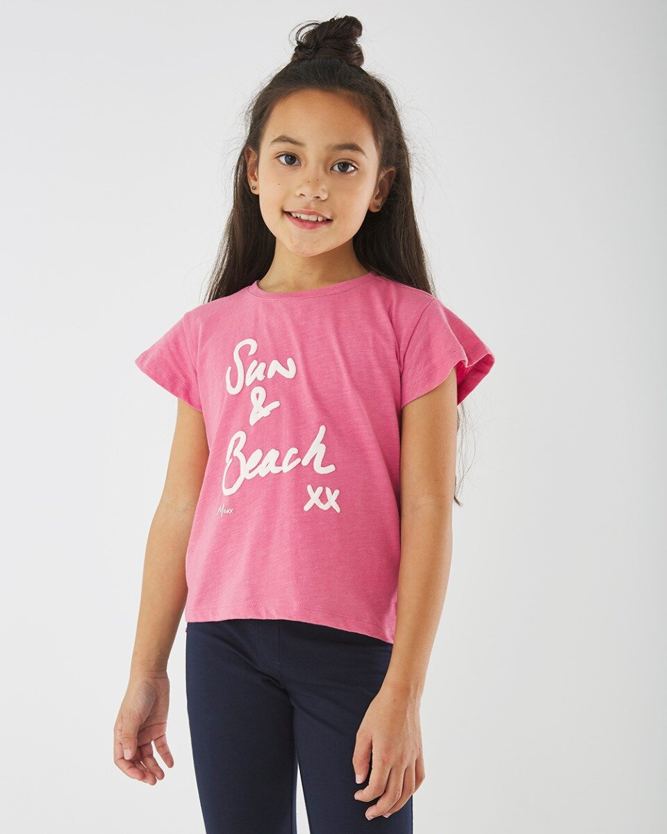 Roze T-shirt met print