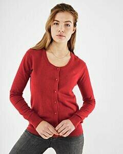 Round neck Cardigan SUSAN Red