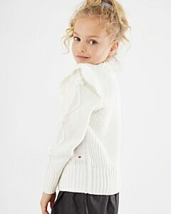 Cable knit pullover Off white
