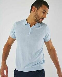 Jacquard Polo Light Blue
