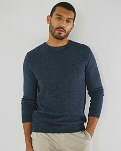 Basic Round Neck Sweater Navy