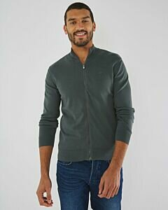 Turtleneck Cardigan James Dark Green