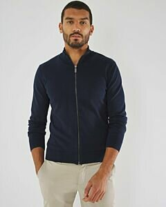 Turtleneck Cardigan James Navy