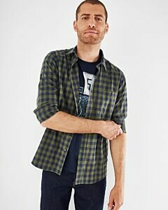 Mexx checked shirt green for men