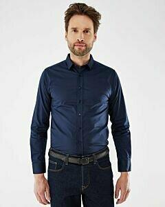 Adam Shirt Long Sleeve Navy