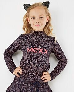 Mexx navy turtlenek top with dotted print for girls