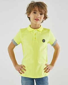 Lime polo with grey borders