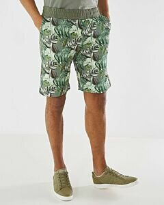 Shorts with print dark green