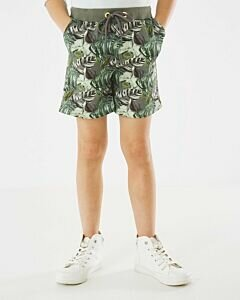 Short with tropical print