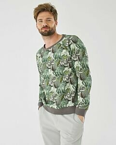 Sweater-with-print-dark-green