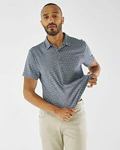 Jacquard Polo Navy