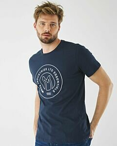 T-Shirt With Logo Print Navy