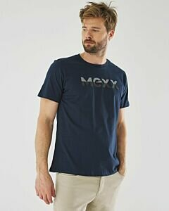T-Shirt Mason With Logo Print Navy