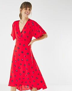 Red Dress with print