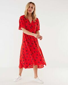 Mexx Red Dress With Print