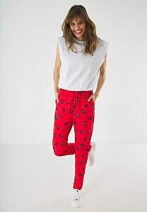 Red Pants With Print