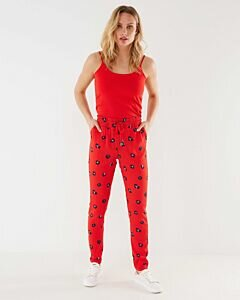 Mexx Red Pants With Print