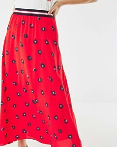 Red Skirt with print