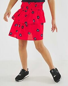 Red Skirt With Panter Dots