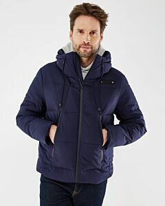 Hooded puffer jacket Navy