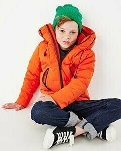 Mexx orange boys coat