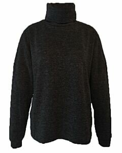 Turtle Neck Knitted Black