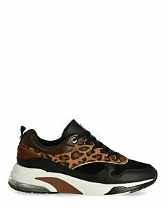 Sneakers-Flo-Black/Cognac