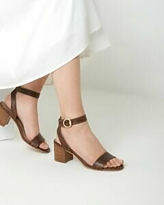 Heeled Sandal Gianella Brown