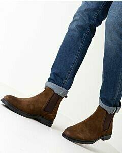 Mexx Haytem chelsea boot for men brown suede