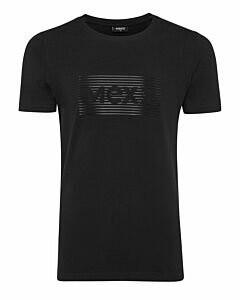 Mexx-Mens-T-Shirt-O-Neck-Big-Logo-High-Density-Print-Black