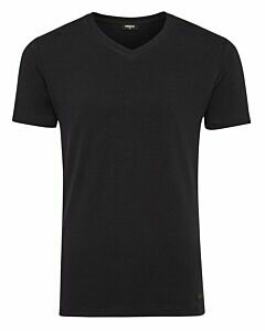 Men-T-Shirt-V-Neck-Rubber-Patch-Navy