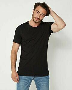 Schwarzes-Rundhals-T-Shirt-für-Männer