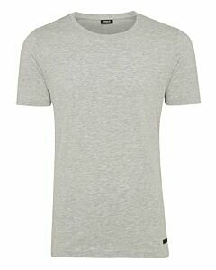 Men-T-Shirt-Round-Neck-Grey-Melange