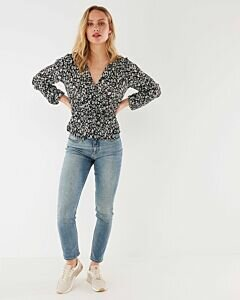 Mexx Navy Wrap Blouse