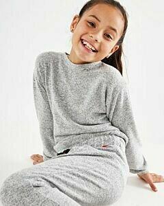Mexx Girls Velours rib sweater Dark Grey