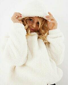 Teddy hoodie Off white