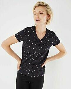 T-shirt Black Printed