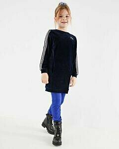 Mexx dark blue velvet girl's dress
