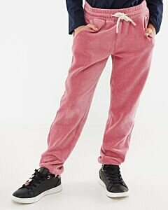 Mexx pink velvet sweatpants for girls