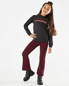 Mexx dark red flared legging for girls