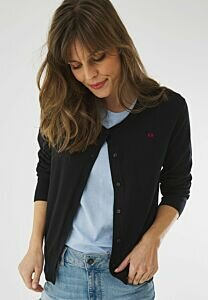 Round neck Cardigan SUSAN Black