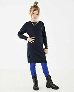 Mexx Navy blue knitted girls dress