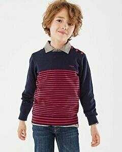Mexx dark blue stiped sweater boys