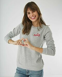 Sweater Grey Melee With Mexx Logo