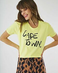 T-shirt met lime cape town